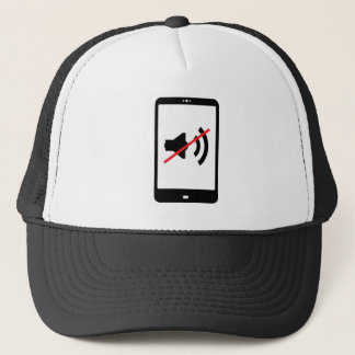 switch your mobile device sound off sign trucker hat
