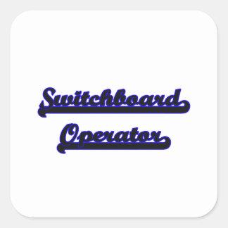 Switchboard Operator Classic Job Design Square Sticker