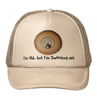 Switched on antique brass switch for wise old head trucker hat