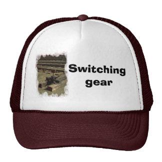 Switching gear trucker hat