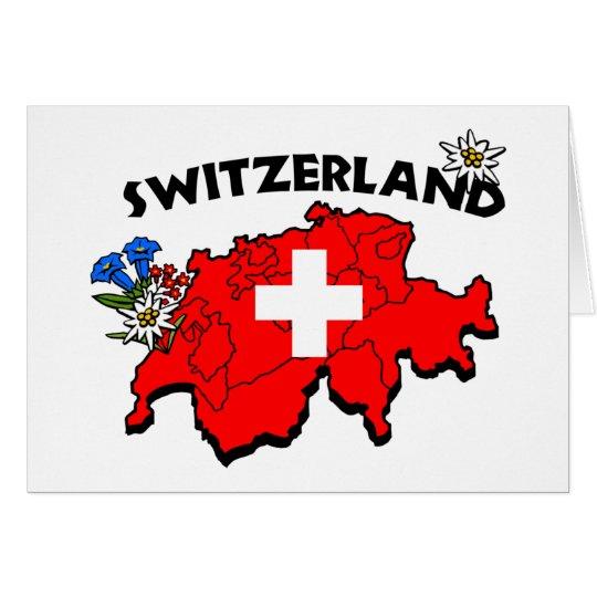 Switz Map Greeting Card