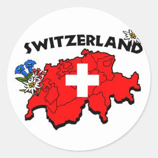 Switz Map Sticker