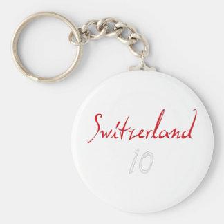 ¡Switzeland 10! Llavero Redondo Tipo Pin