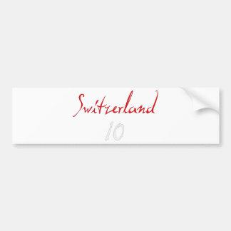 ¡Switzeland 10! Pegatina Para Auto