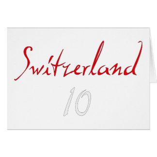 ¡Switzeland 10! Tarjeta De Felicitación
