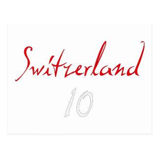 ¡Switzeland 10! Tarjetas Postales