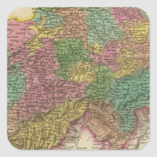 Switzerland 14 square sticker