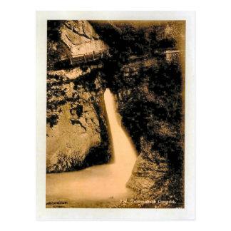 Switzerland 1908, Trummelbach Falls Postcard