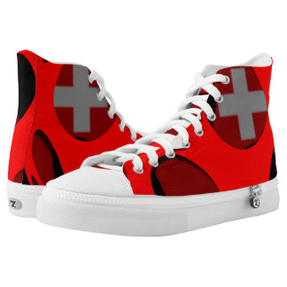 Switzerland #1 printed shoes