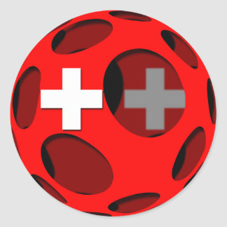 Switzerland #1 round sticker