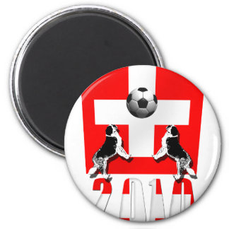 Switzerland 2010 soccer football Swiss flag gifts Magnet