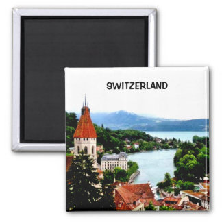 SWITZERLAND 2 INCH SQUARE MAGNET