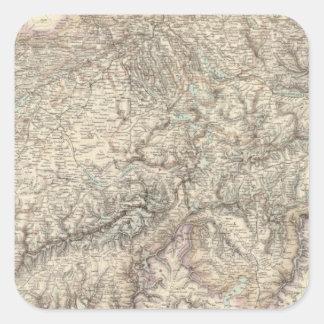 Switzerland 5 square sticker