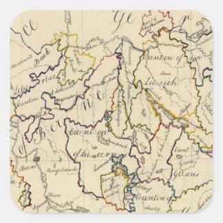 Switzerland 9 square sticker