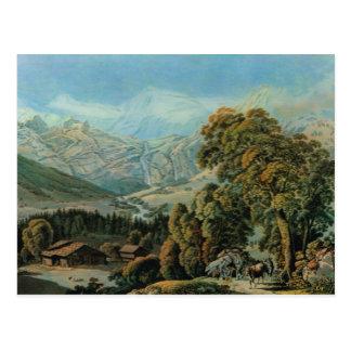 Switzerland, Adelboden, Vintage Berner Oberland Postcard