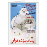 Switzerland Adelboden Vintage Travel Poster