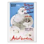 Switzerland Adelboden Vintage Travel Poster Card