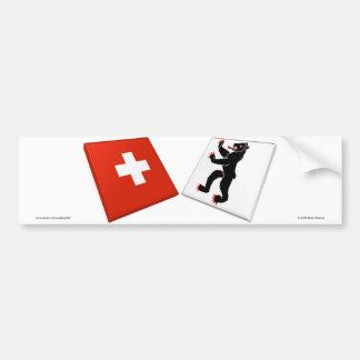 Switzerland and Appenzell-Innerrhoden Flags Bumper Sticker