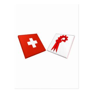 Switzerland and Basel-Landschaft Flags Post Card