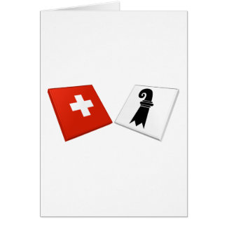 Switzerland and Basel-Stadt Flags Greeting Cards