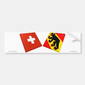 Switzerland and Bern Flags Bumper Sticker