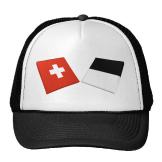 Switzerland and Fribourg Flags Hat