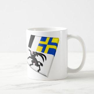 Switzerland and Graubuenden Flags Coffee Mug