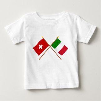 Switzerland and Italy Crossed Flags T-shirt
