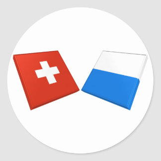 Switzerland and Lucerne Flags Stickers