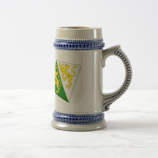 Switzerland and Thurgau Flags Beer Stein