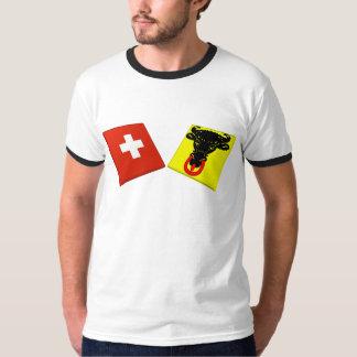 Switzerland and Uri Flags Shirt