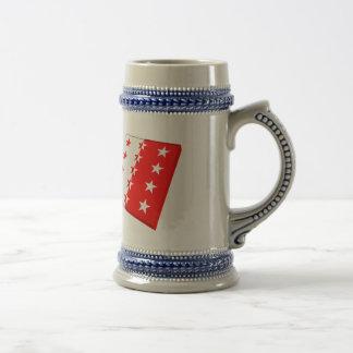Switzerland and Valais Flags 18 Oz Beer Stein