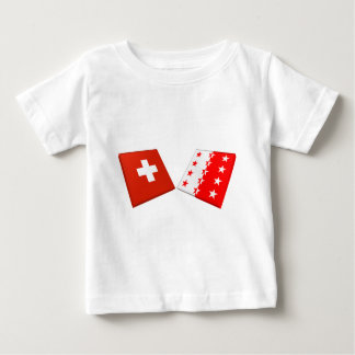 Switzerland and Valais Flags T-shirts