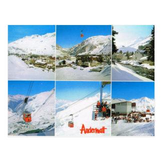 Switzerland, Andermatt in winter Postcard