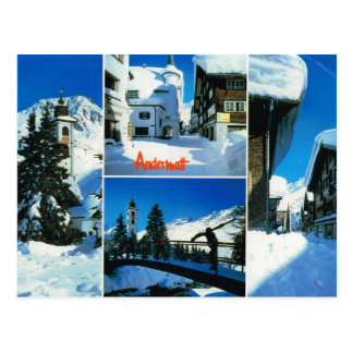 Switzerland, Andermatt village in winter Postcard