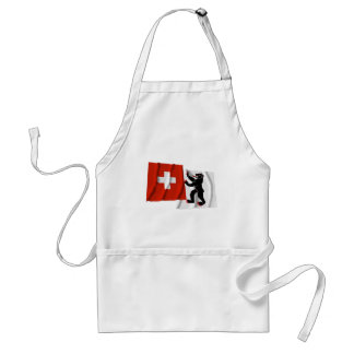 Switzerland & Appenzell-Innerrhoden Waving Flags Adult Apron