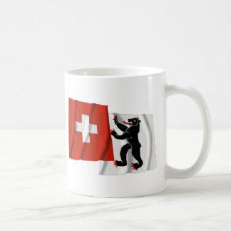 Switzerland & Appenzell-Innerrhoden Waving Flags Coffee Mug