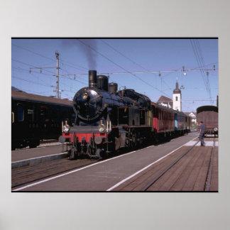 Switzerland, Boder 0-6-2 T #9_Trains of the World Poster