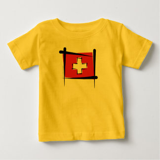 Switzerland Brush Flag Baby T-Shirt