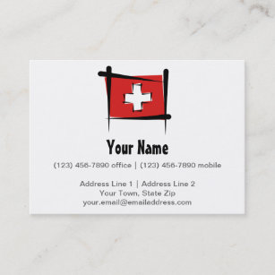 Switzerland flag business cards templates zazzle switzerland brush flag business card colourmoves