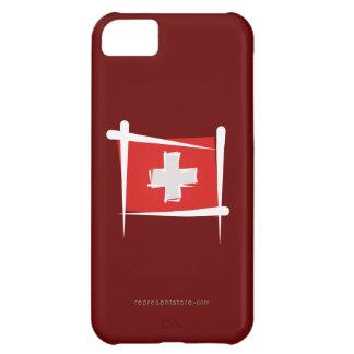 Switzerland Brush Flag Case For iPhone 5C