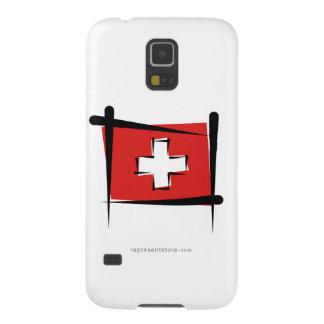 Switzerland Brush Flag Cases For Galaxy S5