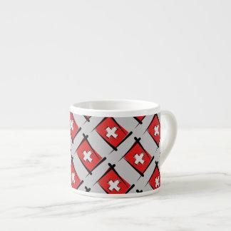 Switzerland Brush Flag Espresso Cup