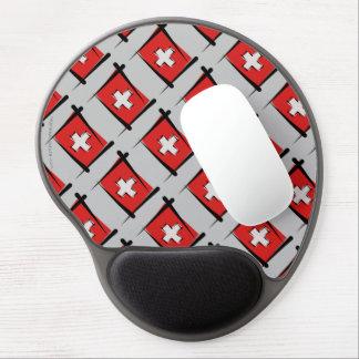 Switzerland Brush Flag Gel Mouse Pad