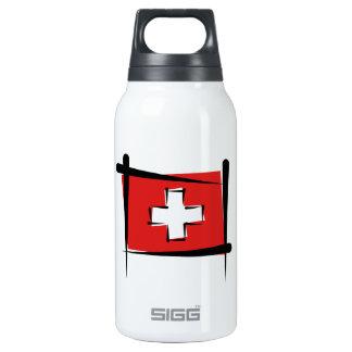 Switzerland Brush Flag Insulated Water Bottle