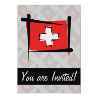 Switzerland Brush Flag Custom Announcements