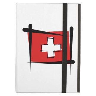 Switzerland Brush Flag iPad Air Cover