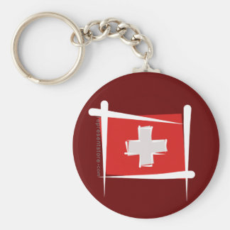 Switzerland Brush Flag Key Chains