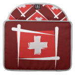 Switzerland Brush Flag Sleeves For MacBooks
