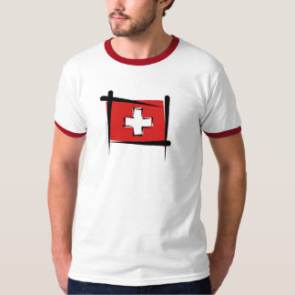 Switzerland Brush Flag T-Shirt